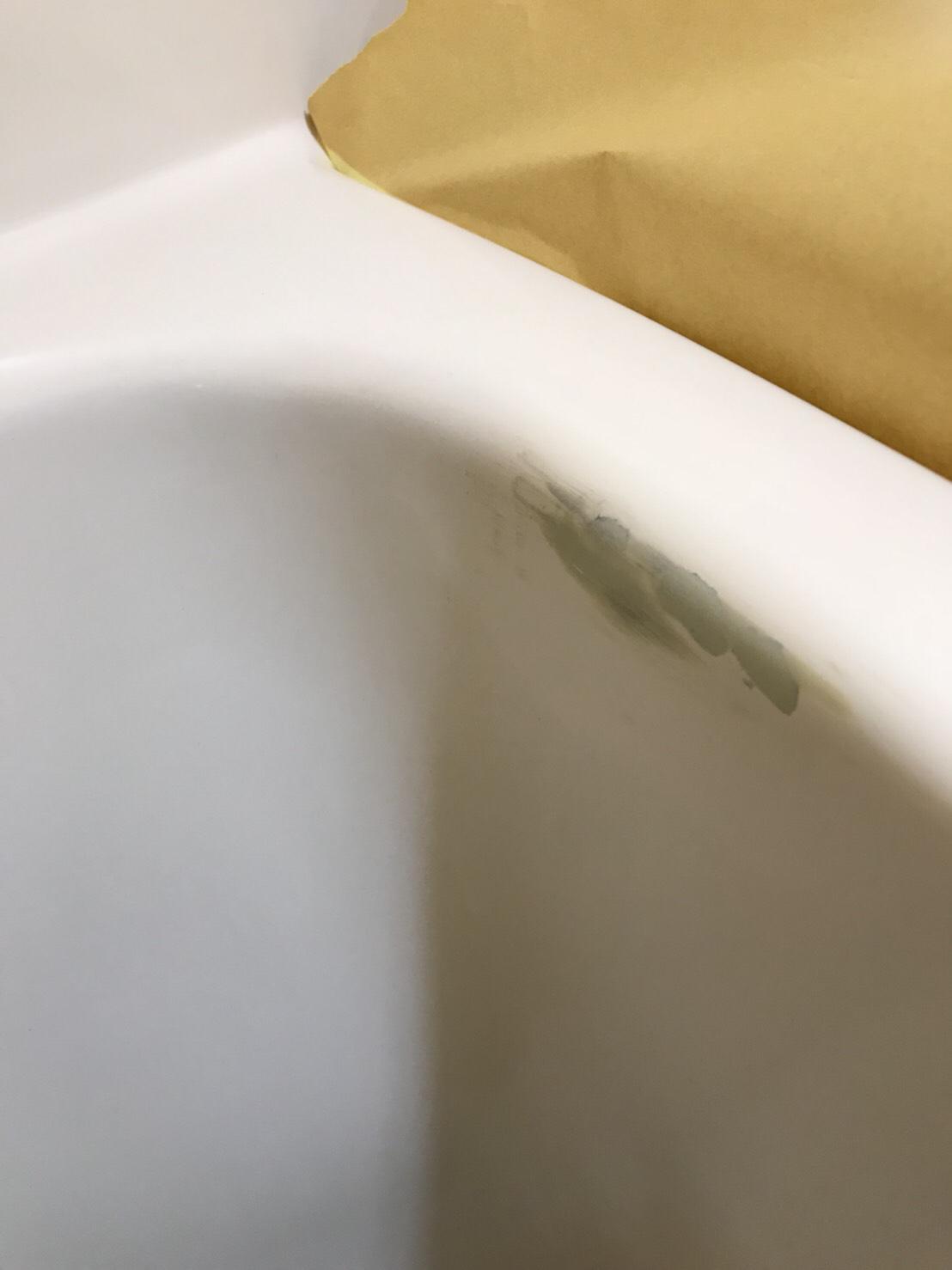 浴槽の簡易補修 施工中 画像